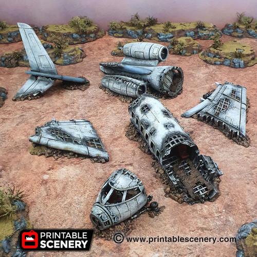 Crashed Aircraft DnD Terrain