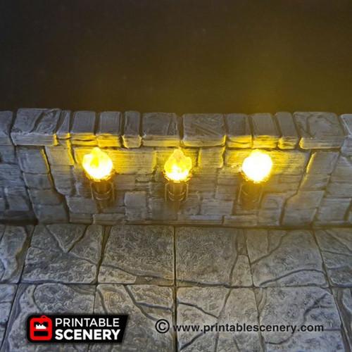 Torch Wall Tiles DnD Terrain