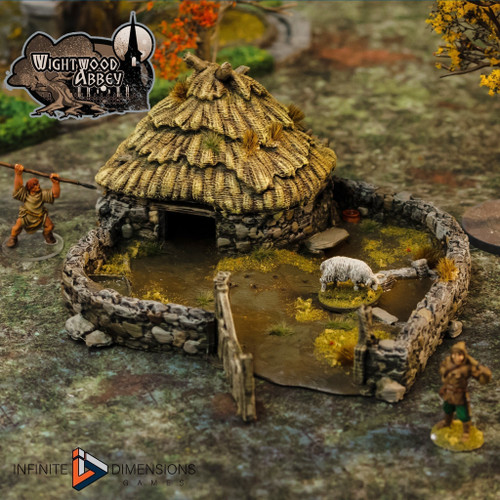 Wightwood Abbey Medieval Porc Sty DnD Terrain