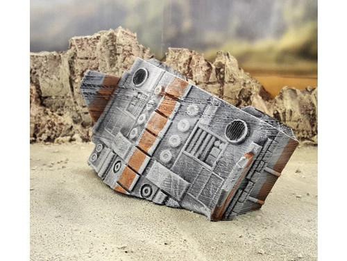 Starship Wreck Spaceship D Sci-Fi DnD Terrain