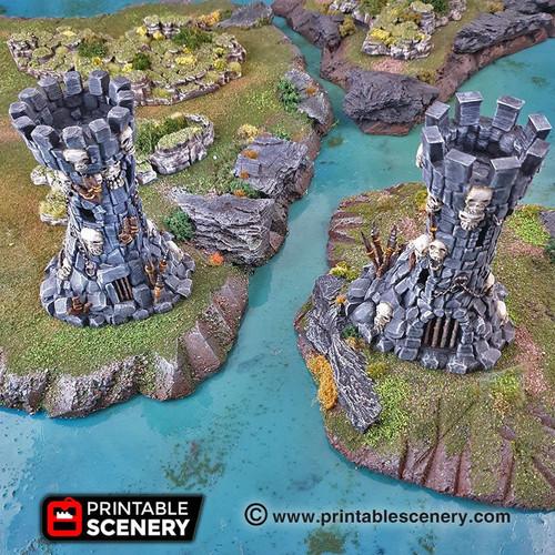 Clorehaven Goblin Grotto Guard Towers DnD Terrain