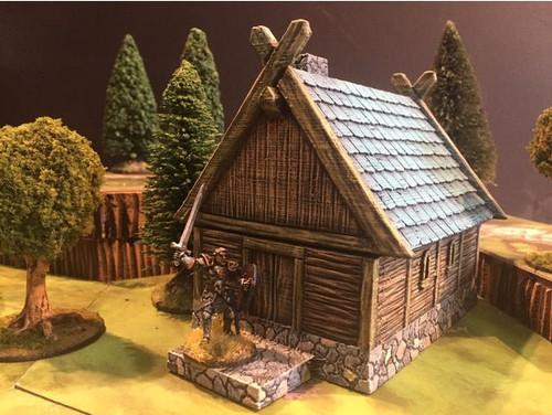 Barbarian Viking Hunter House DnD Terrain