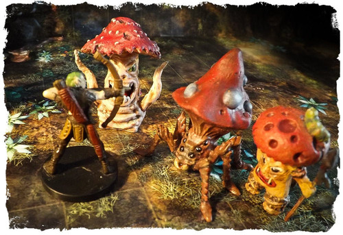 Killer Mushrooms DnD Miniature