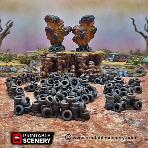 Tire Obstacles  DnD Terrain