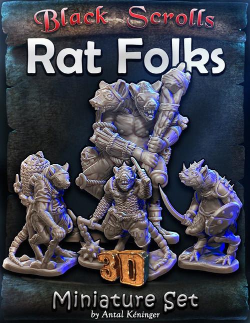 Rat Folks DnD Miniature
