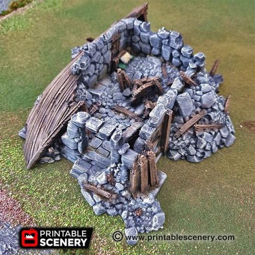 Ruined Boathouse -  Goblin Dwarve DnD Terrain