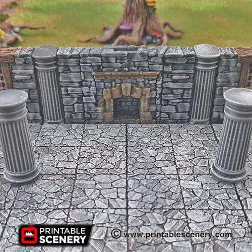 Secret Schist Wall  Tile DnD Terrain