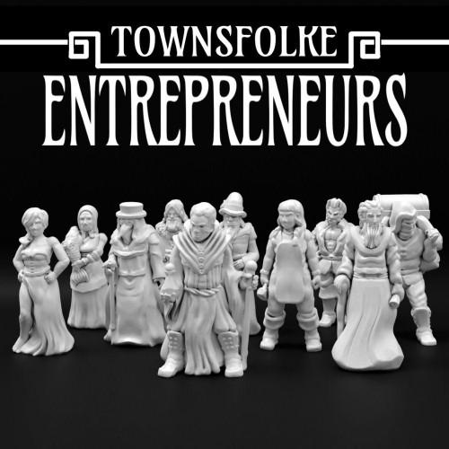 Medieval Entrepreneurs Doctors Merchant Alchemist Town Folks DnD Miniature