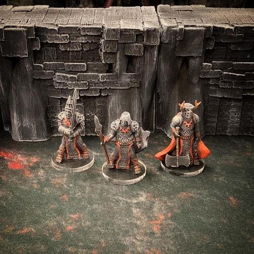 Hell Demon Knight DnD Miniature