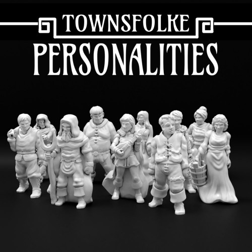 Medieval Personalities Town Folks DnD Miniature