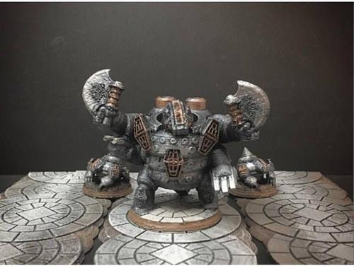 Dwarf Badger King DnD Miniature