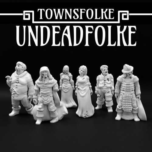 Medieval Undead Zombie DnD Miniature