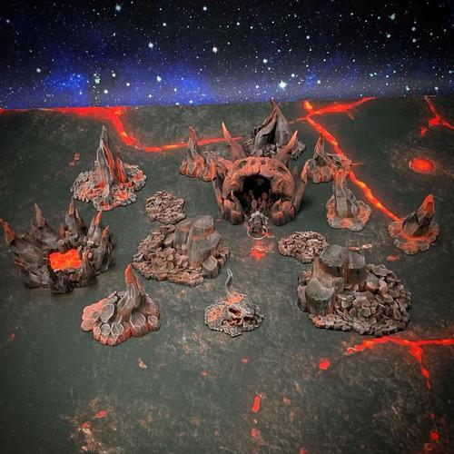 Hell Rock Set DnD Terrain