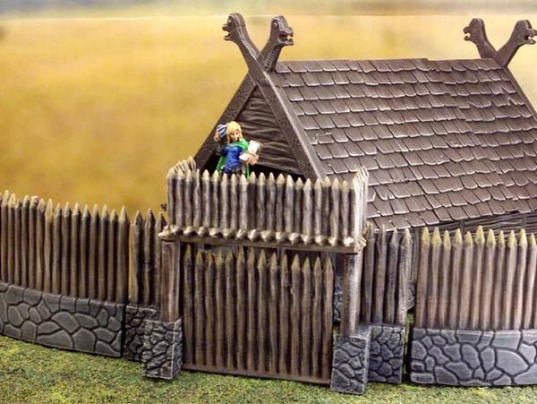 Barbarian Viking Hunter Barricade Gate DnD Terrain