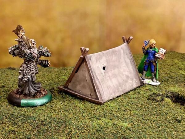 Barbarian Viking Hunter Tent DnD Terrain