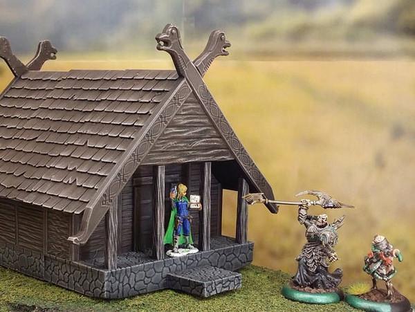 Barbarian Viking Hunter House  Scatter DnD Terrain