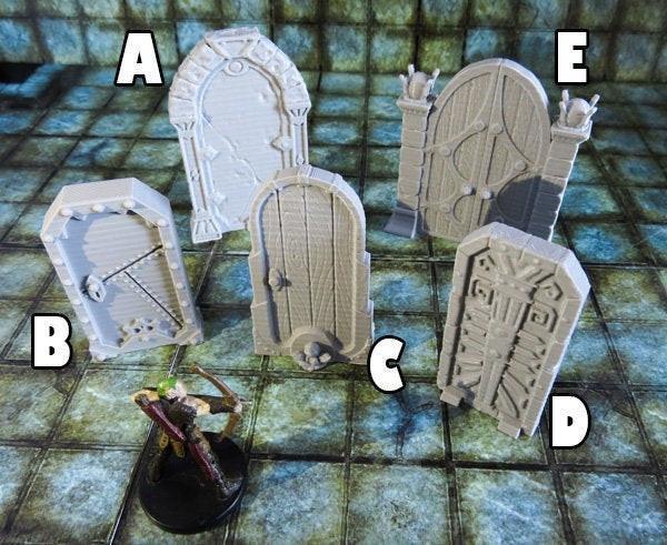 Miniature  Dungeon Doors Ver.C Dnd Terrain