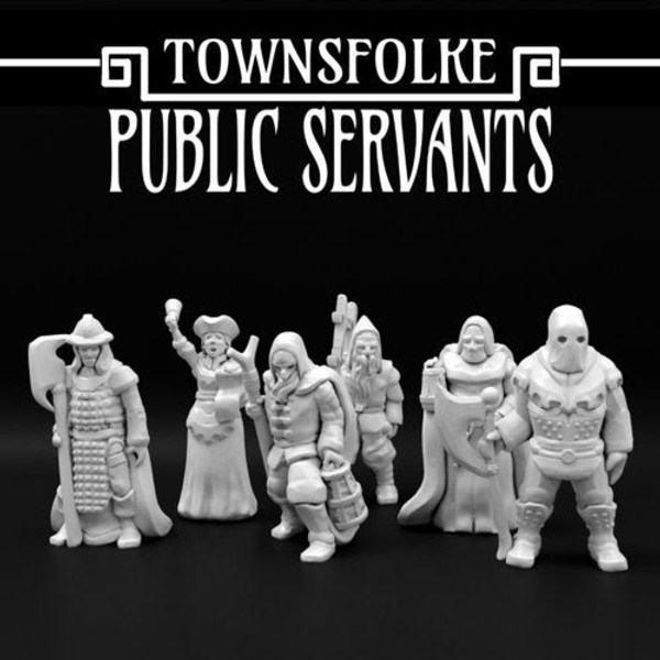 Medieval Servant Crier Custodian Executioner Town Folks DnD Miniature
