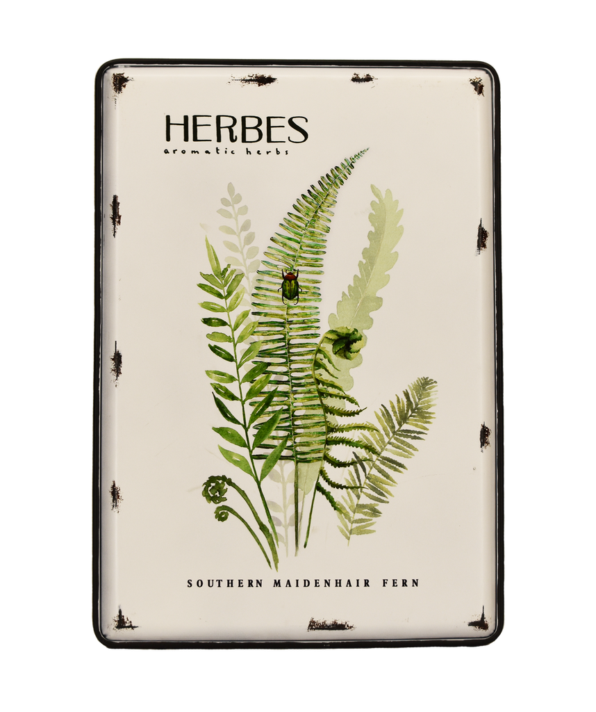 "METAL ART - HERBS - 13.5 X 19.6"""