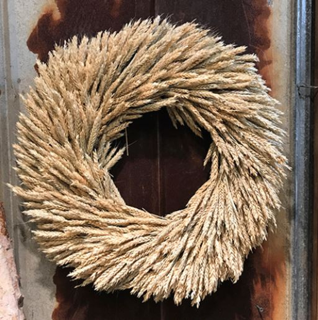 RYE WREATH 22 INCHES NATURAL PACKED 1