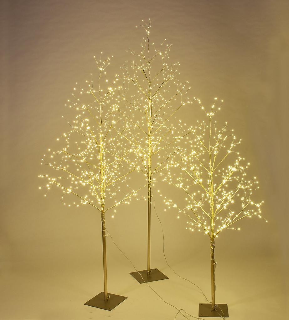 STARLIT TREE GOLD - SET/3 - 4', 5', 6'