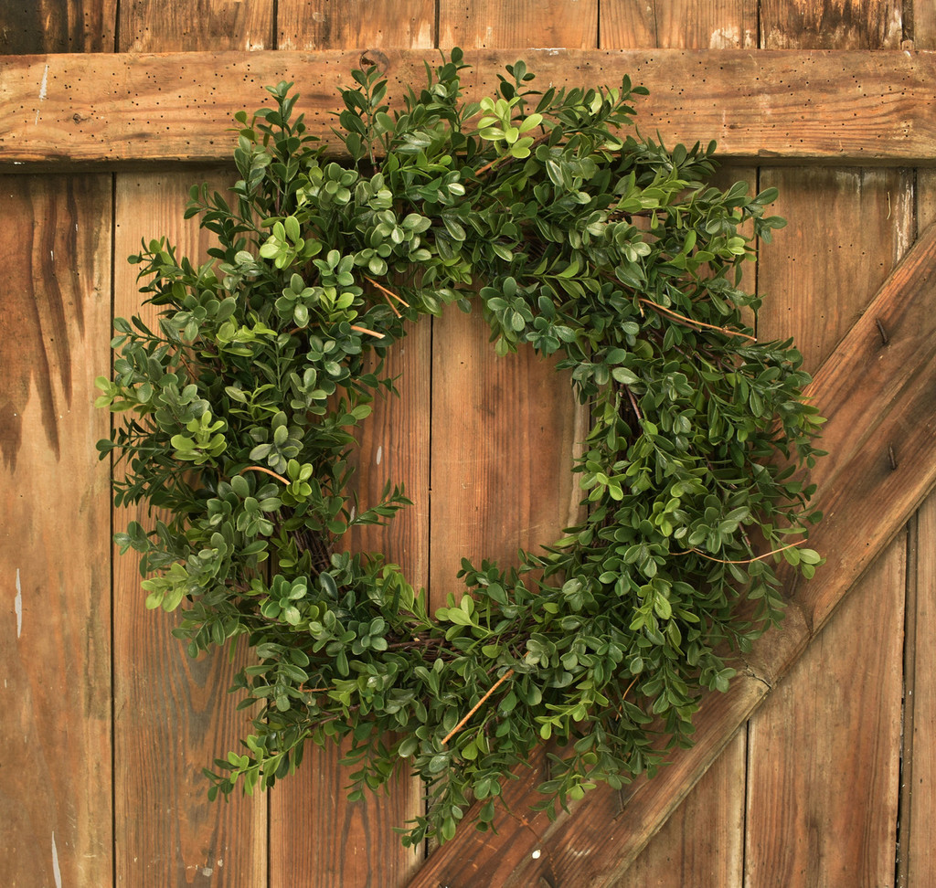 "ARTIFICIAL BOXWOOD 23"" WREATH"