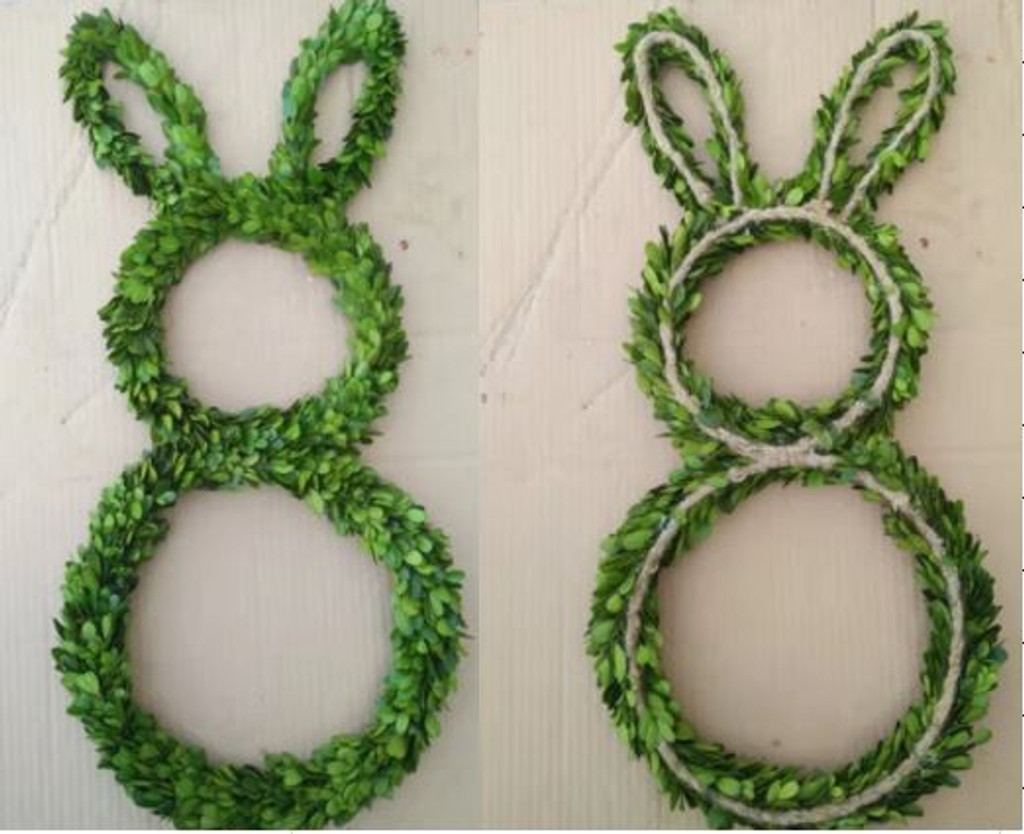 "BOXWOOD RABBIT - 12""B, 9"" T, 7"" E"
