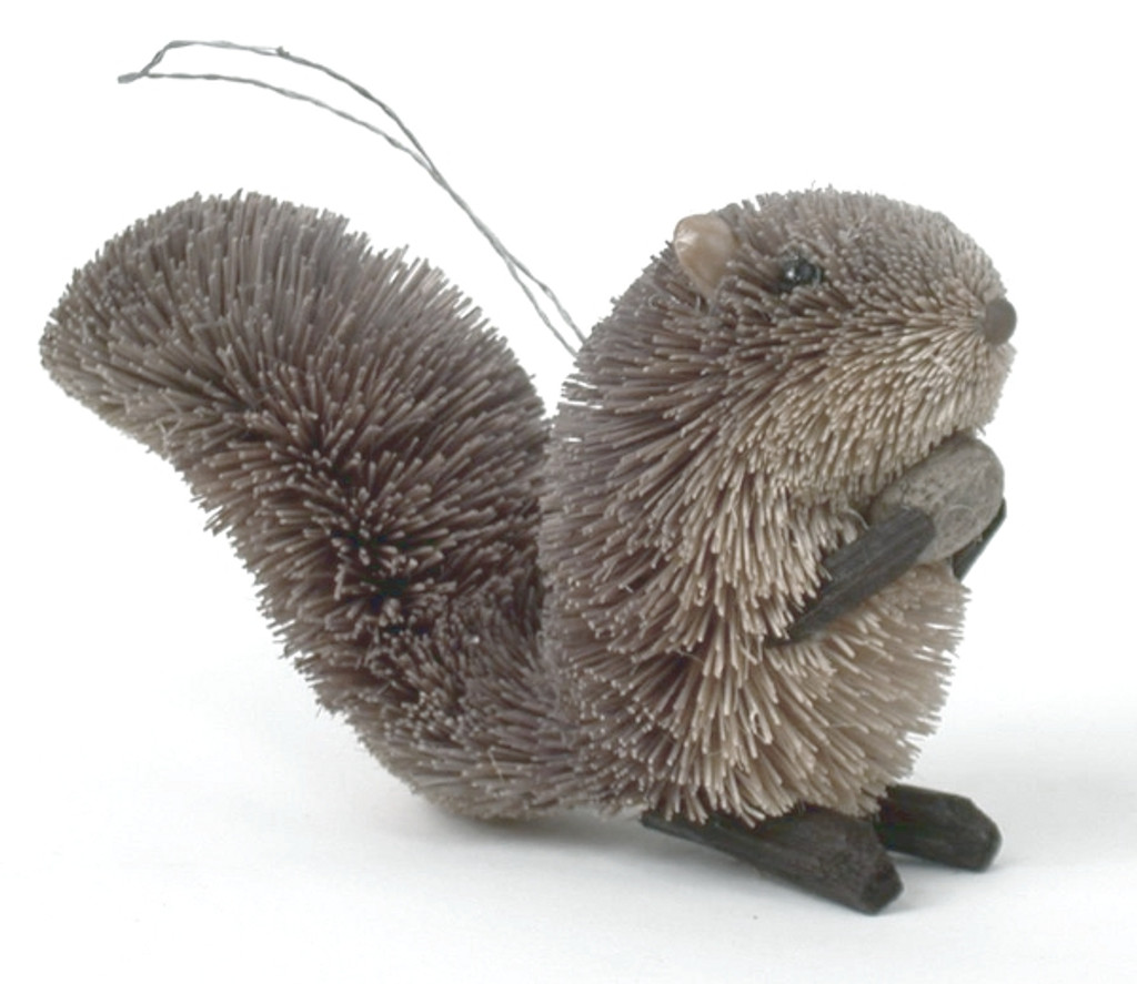 HANDMADE ORNAMENT - GREY SQUIRREL - 3""