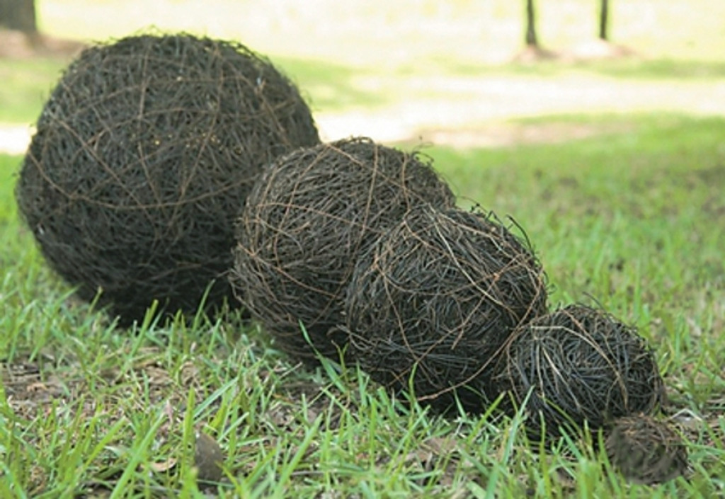 "ANGEL VINE BALL - NATURAL - 2"" - 6 PCS/BAG"