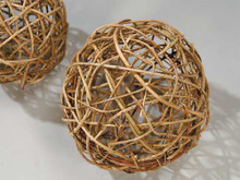 """CURLY WILLOW BALL - NATURAL - 8"""" PACKED 4"""