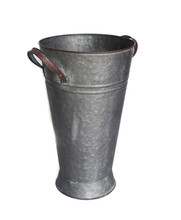 GALVANIZED FRENCH BUCKET - 8.25 x 13.75""