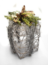 """GIFT BOX VINE - WRAPPED - TALL - 6.2 x 9.8"""""""