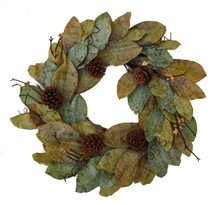 FOREST MAGNOLIA WREATH - 24""