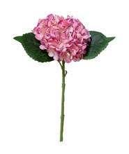 """HYDRANGEA PICK 13"""" FAUX - ROSE PINK"""