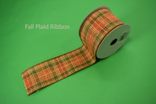 "FALL PLAID RIBBON - 2.5"" X 10 YDS"