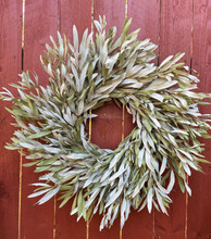 """NATURAL INTEGRIFOLIA 17"""" WREATH - PACKED 4"""