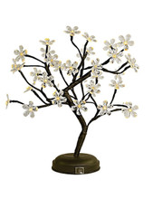 "CRYSTAL FLOWER LED BONSAI TREE - 18"" CLR"