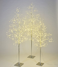 STARLIT TREE SILVER - SET/3 - 4', 5', 6'