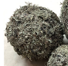 GREY MOSS BALL NATURAL - 6""