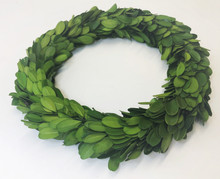 "BOXWOOD 8"" WREATH DOUBLE SIDE NO RIBBON"