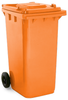 Orange 240 Litre Wheelie Bin