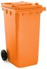 Orange 240 Litre Wheelie Bin