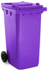 Purple 240 Litre Wheelie Bin
