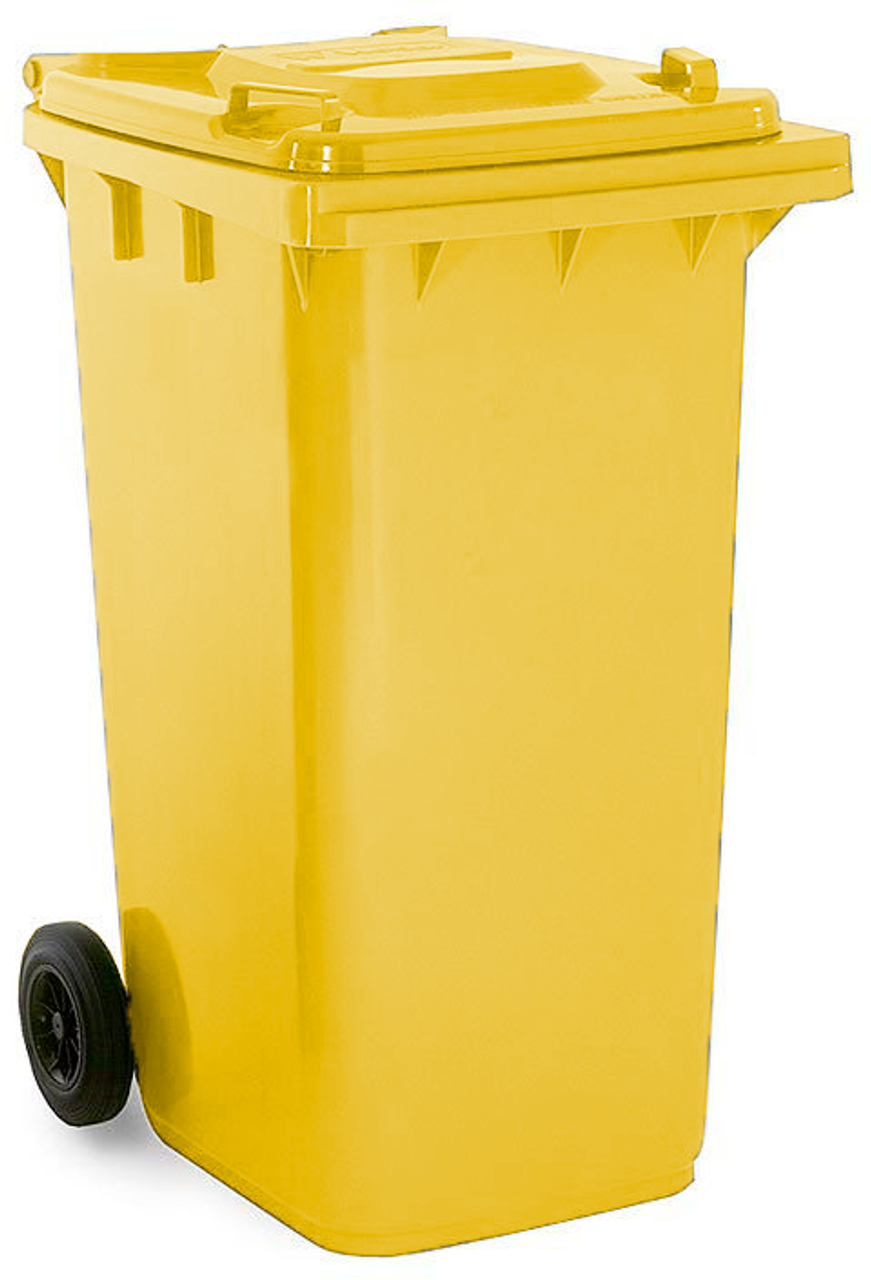 Yellow 240 Litre Wheelie Bin