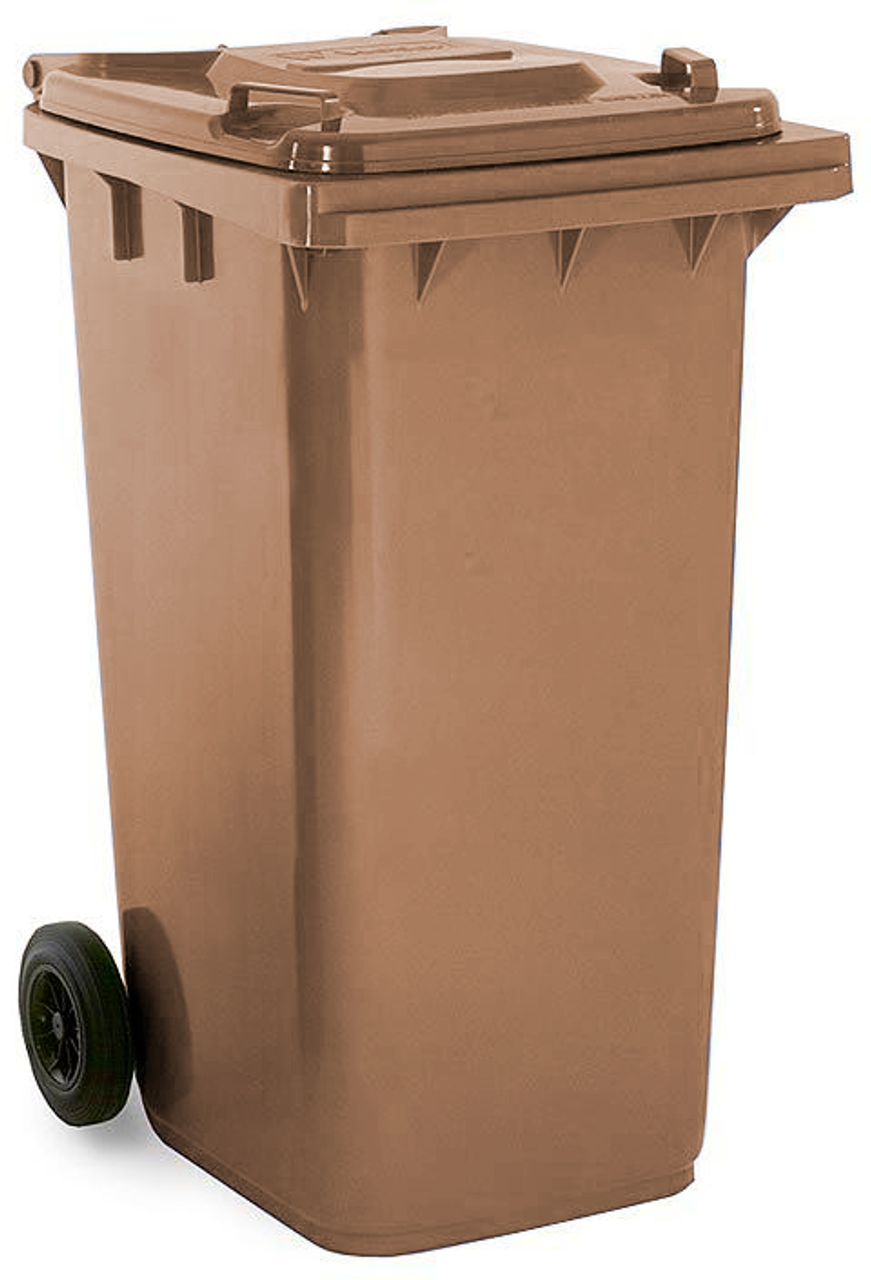 Brown 240 Litre Wheelie Bin