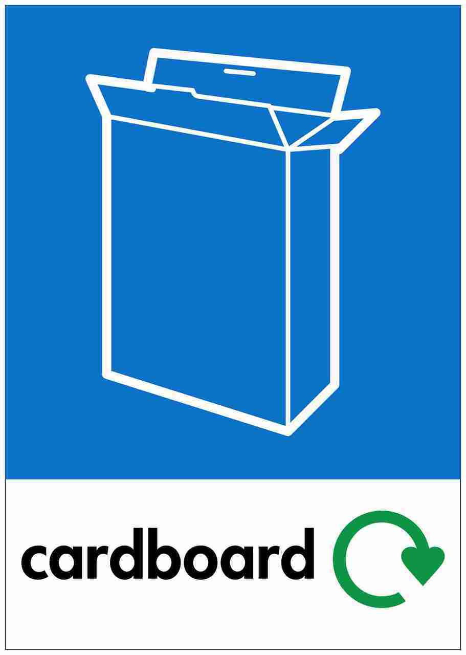 Large A4 Wheelie Bin Sticker - Cardboard