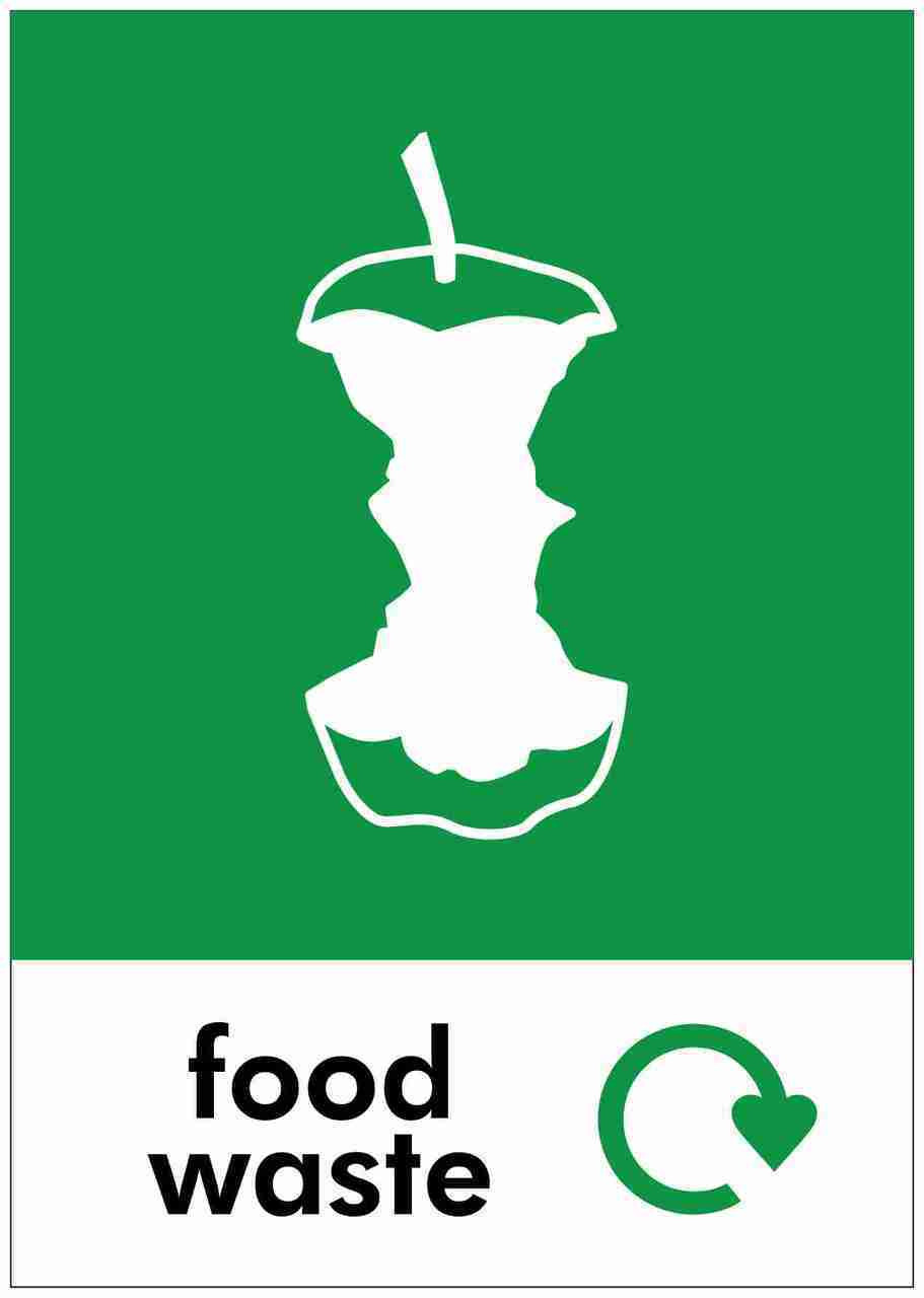 Large A4 Wheelie Bin Sticker - Food Waste
