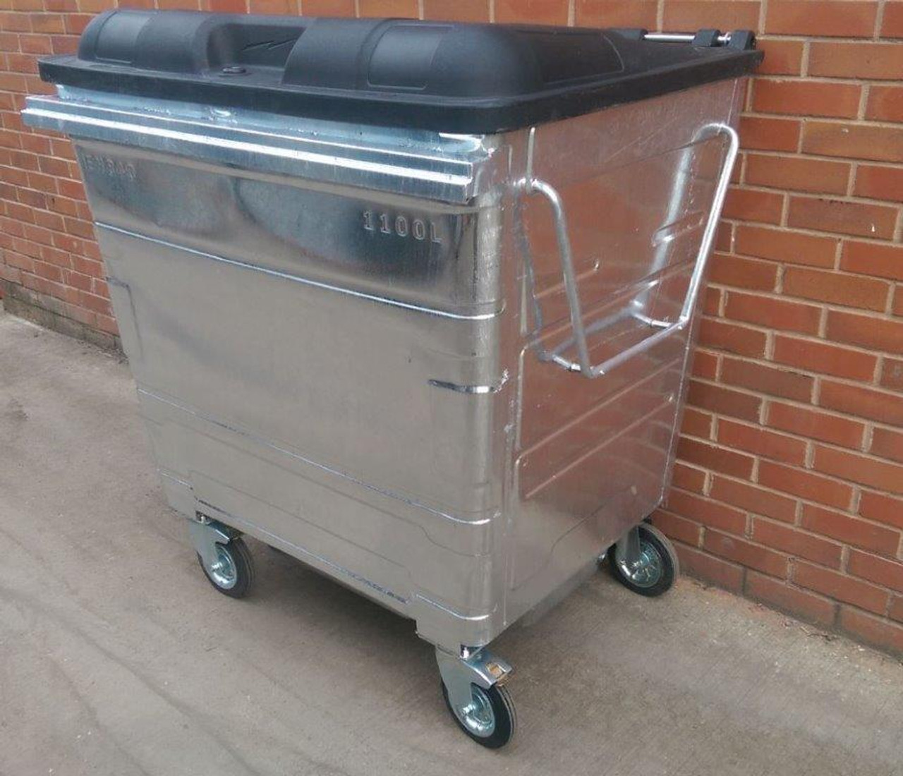 1100 Litre Metal Wheelie Bin (Express Delivery In Stock)
