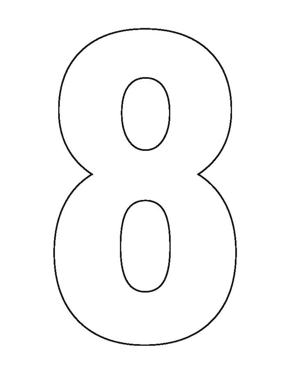 Wheelie Bin Number Sticker White Eight