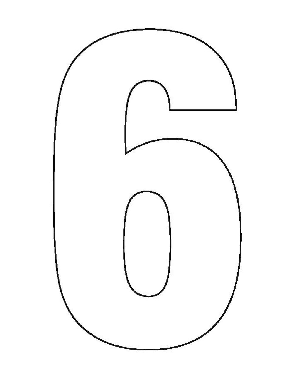 Wheelie Bin Number Sticker White Six